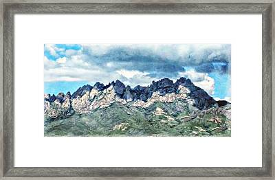 Organ Mountain's Cloud Shadows Framed Print