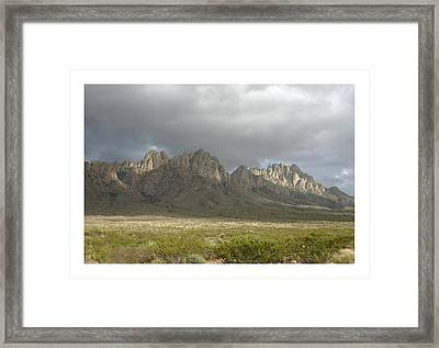 Organ Mountains Dec 25 2015 Framed Print by Jack Pumphrey