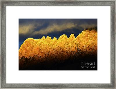 Organ Mountains Land Of Enchantment 1 Framed Print by Bob Christopher