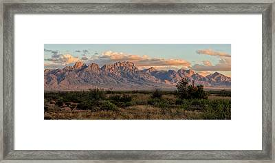 Organ Mountains, Las Cruces, New Mexico Framed Print by Loree Johnson
