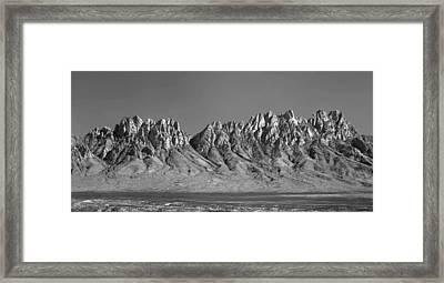 214878-organ Mountains Panorama     Framed Print