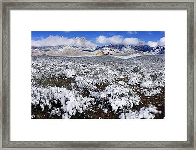 Organ Mountains With Snow Framed Print by Patrick Alexander