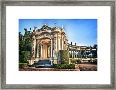 Organ Pavillion At Balboa Park Framed Print by Larry Marshall