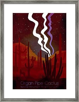 Organ Pipe Cactus National Park 4 - By Diana Van Framed Print by Diana Van