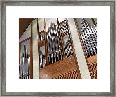 Framed Print featuring the photograph Organ Pipes by Ann Horn
