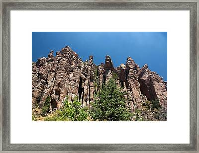 Framed Print featuring the photograph Organ Pipes by Joe Kozlowski