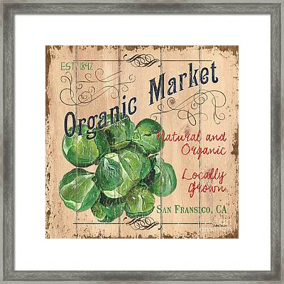 Organic Market Framed Print