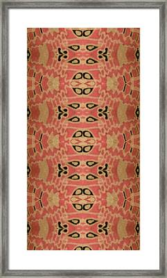Organic Paisley Framed Print by Modern Metro Patterns and Textiles