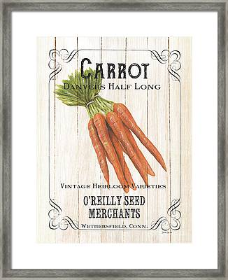 Framed Print featuring the painting Organic Seed Packet 2 by Debbie DeWitt