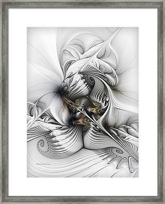 Framed Print featuring the digital art Organic Spiral Tower Construction by Karin Kuhlmann