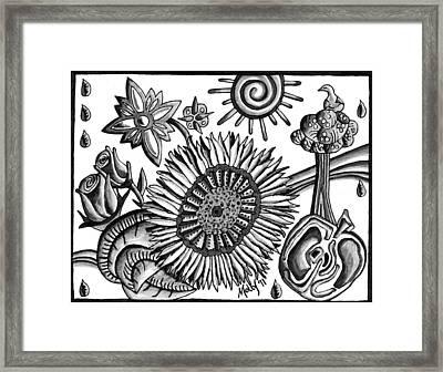 Organic Still Life Framed Print