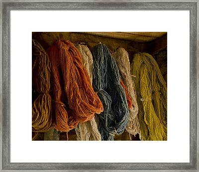 Organic Yarn And Natural Dyes Framed Print by Wilma  Birdwell