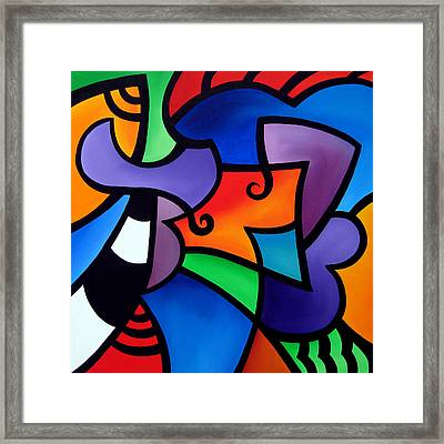 Organized - Abstract Pop Art By Fidostudio Framed Print by Tom Fedro - Fidostudio