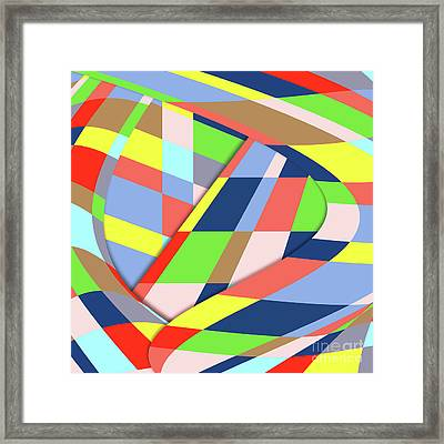 Framed Print featuring the digital art Organized Cubic Chaos by Bruce Stanfield