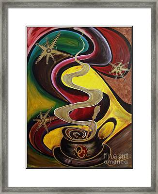 Organo Gold Framed Print