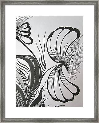 Organza Bloom Framed Print