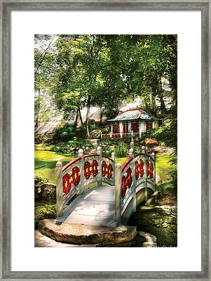 Orient - Bridge - The Bridge To The Temple  Framed Print by Mike Savad