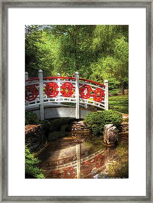 Orient - Bridge - Tranquility Framed Print by Mike Savad