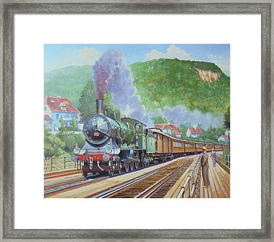 Framed Print featuring the painting Orient Express 1920 by Mike Jeffries