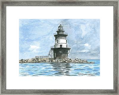 Orient Point Lighthouse Framed Print