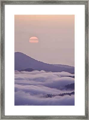 Oriental Blue Ridge Sunrise Framed Print by Rob Travis