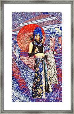 Oriental Cosplayer Framed Print