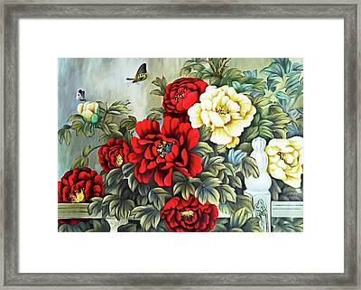 Framed Print featuring the photograph Oriental Flowers by Munir Alawi