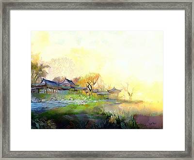 Oriental Horizon Framed Print by Wayne Pascall