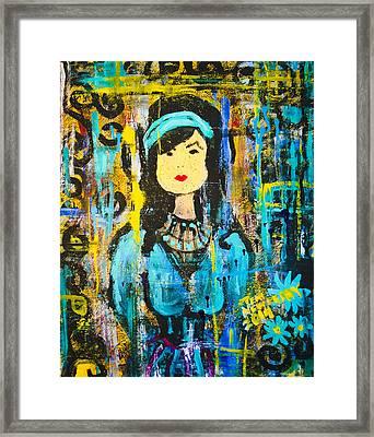 Oriental Ink Splash Framed Print by Teri Newberry