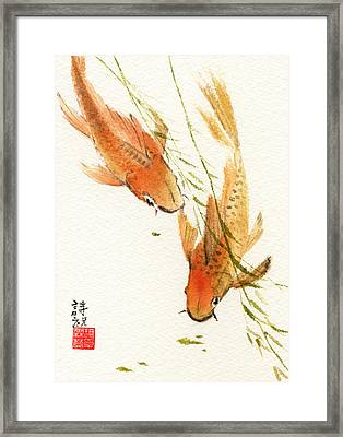 Oriental Koi Framed Print