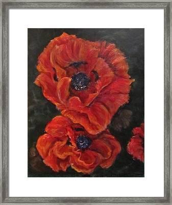 Oriental Poppys  Framed Print
