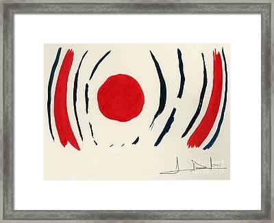 Oriental Sun Framed Print