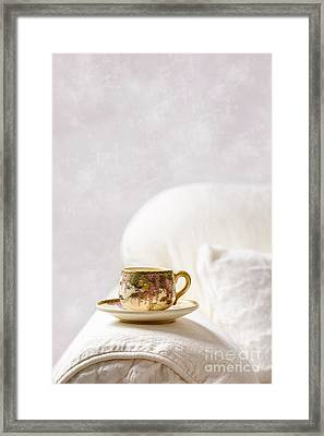 Oriental Teacup And Saucer Framed Print