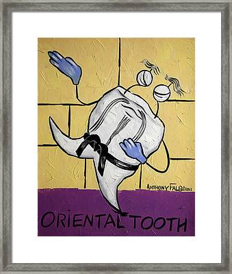 Oriental Tooth Framed Print by Anthony Falbo