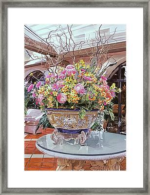 Oriental Urn - Hotel Biltmore Framed Print