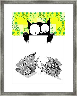 Origami Fish Framed Print