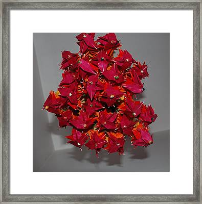 Origami Flowers Framed Print by Rob Hans
