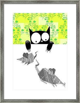 Origami Mice  Framed Print by Andrew Hitchen