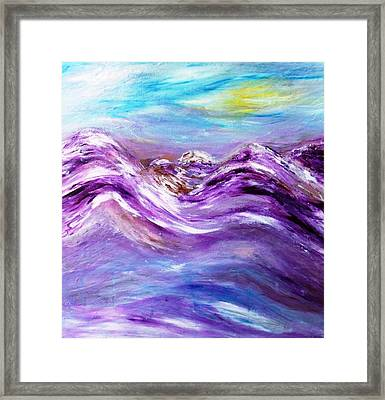 Origin Of The Charka  Framed Print by Amy Drago