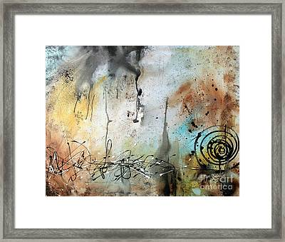 Original Abstract Acrylic Painting On Canvas Desert Surroundings By Megan Duncanson Framed Print