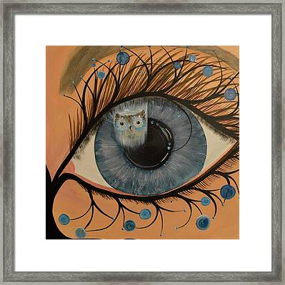 Original Acrylic Artwork By Mimi Stirn - Hoomasters Collection Hoodali #412 Mimi's Self Portrait Framed Print