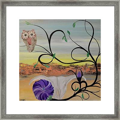 Original Acrylic Artwork By Mimi Stirn - Hoomasters Collection -hooo'keeffe #415 Framed Print