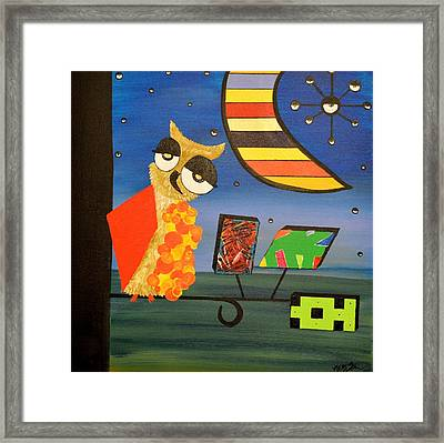 Original Acrylic Artwork By Mimi Stirn - Hoomasters Collection - Hoopicasso #410 Framed Print
