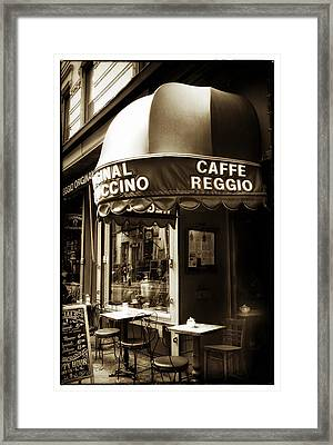 Original Cappuccino Framed Print by Jessica Jenney
