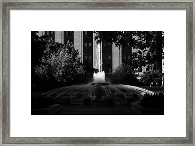 Original Fountain Framed Print by Coby Cooper