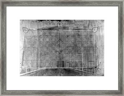 Original French Quarter Map Framed Print
