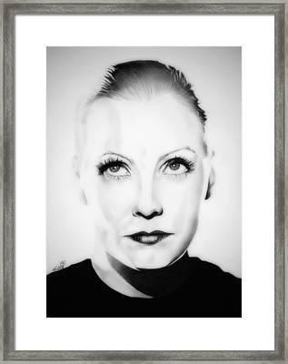 Original Greta Garbo Framed Print by Fred Larucci