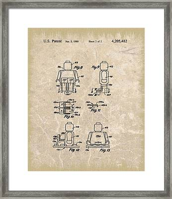 Original Lego Man Patent Framed Print by Dan Sproul