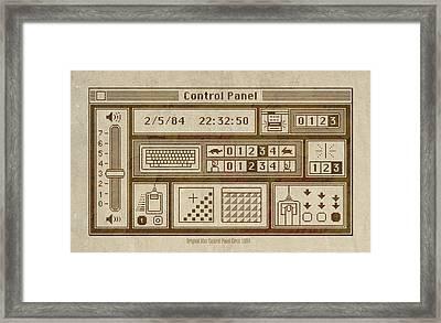 Original Mac Computer Control Panel Circa 1984 Framed Print by Design Turnpike