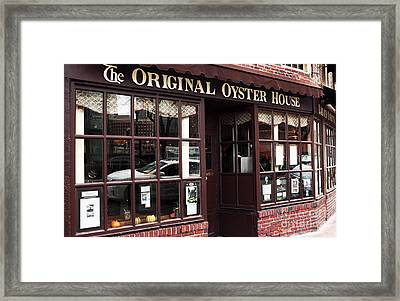 Original Oyster House Framed Print by John Rizzuto